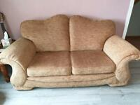 2 seater sofa and chair for sale VGC £95 ONO