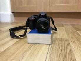 Nikon D5500 24.2MP Digital SLR Camera WIFI - Black Sigma 18 - 55mm VR lens (LOW SHUTTER COUNT)