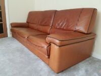 High Quality Aniline Leather Sofa - 3 Seater