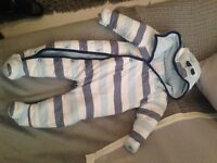 9-12months striped snow suit from Boots