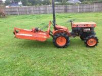 Kubota Compact Tractor 4wd with topper and trailer