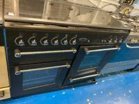 Black range master 110cm dull full cooker grill & double fan assets ovens with guarantee