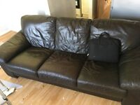 FREE Leather Sofa - Very comfortable - saldy giving away for FREE - need to collect before 4pm today