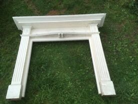 Antique solid Wooden Fireplace Surround