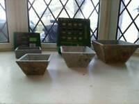 Slate plant pots+ terracotta pots