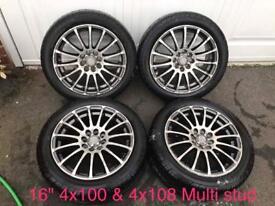 """16"""" 4x108 & 4x100 Alloy Wheels"""