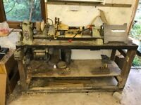 ML8 Woodturning Lathe with Planer, Saw, Mortiser, pile hardwood and tools