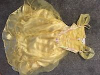 Disney store Belle Beauty & The Beast Yellow hooped dressing up costume fancy dress age 3-4 years