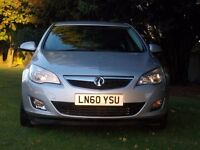 Vauxhall Astra 2010 Sliver 5door Automatic 1.6 MOT26 october 2017 low miealge 27000,
