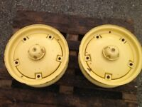 Massey Harris Tractor Front (Pair) Rims Hub & Weights - Vintage (French&Hecht ) £300