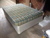DOUBLE BED BASE AND CLEAN AND COMFORTABLE MATTRESS CAN DELIVER OR COLLECTION