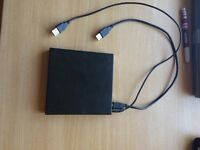 Portable USB external DVD Rom / CD writer Drive player ideal for PC, Laptop and Notebooks