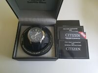 Citizen CC3005 Eco-Drive Satellite GPS Wave Sapphire Watch leather strap