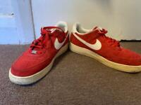 Nike Air Force One Low - Suede Red limited edition U.K. 9