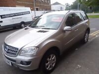 Mercedes Benz ML320 CDI SE Auto,Very clean tidy 5 dr 4x4,FSH,full leather interior,all the extras