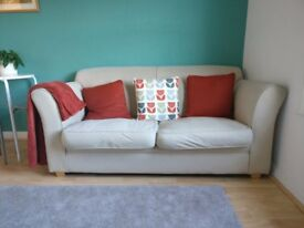 LOVELY 2 SEATER SOFA £40 FOR QUICK SALE!!!!