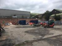 Land Yard to let / rent in West Yorkshire Halifax. 15000 ft