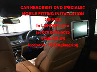 mobile CAR HEADRESTs SCREENs DVD FITTING SPECIALST INSTAL fix (with SRS modul removal) London area