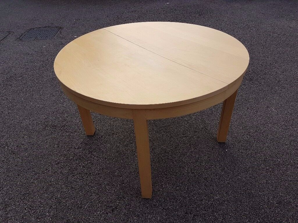 Ikea Round Bjursta Extending Dining Table FREE DELIVERY 531