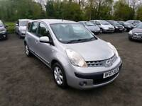 Nissan note se 1.6L 5DR 2007 1 year mot Full service history excellent condition