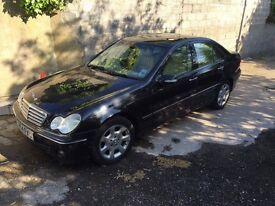 Mercedes c220 metallic black 2005