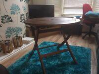 Weatherproof Folded Wooden Garden Table