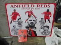LIVERPOOL FC FANS GREAT BARGAIN A CANVAS WITH PAST REDS LEGENDS & ANFIELD LEGENDS BOOK £15 THE LOT
