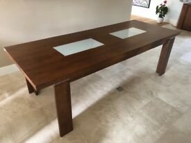 8 seater dining table with 2 matching sideboards