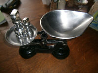 Kitchen Balance Scales including metric and imperial weights- Librasco brand- V good condition