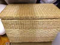 Wicker storage box.