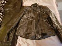 Ladies motorcycle motorbike leather jacket & trousers size 14