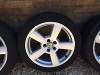 Golf alloy wheels and tyres