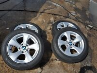 "16"" Alloys for BMW with tyres"