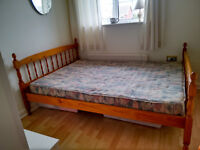 Wooden Double Bed Frame inclusive mattress