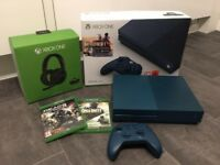 Xbox One S- Limited Edition Battlefield 1 500GB console with controller, headset and two games.