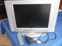 """LG TV 20"""" (screen 16"""" x 12"""") on a stand ALSO a VOGEL wall mount EFW 6125"""