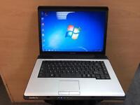 Toshiba Quick Laptop, 3GB Ram, Dual-Core, Windows 7, Microsoft office, Very Good Condition