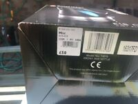 Brand new Russell Hobbs Black Kettle still in box never used cost £50 left or right hand use