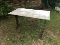 Victorian Cast iron Marble tip garden table