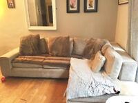 Next Mink/Light Grey Right Hand Corner Sofa