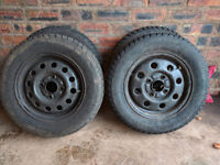 4x Nokian W+ winter tyres, 165/70R13 fit Ford Fiesta. Steel rims, wheel nuts and trim.