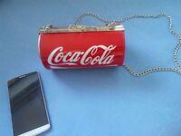 Coke Cola Hand Bag with metal chain
