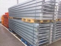 PALLET RACKING 40 UPRIGHTS 6m + 300 BEAMS 3.2m ABSOLUTE BARGAIN