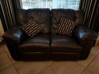 3 + 2 reclining leather sofa