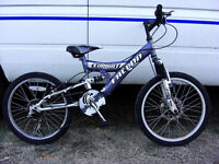Boys full suspension front disc braked mountain bike in good clean condition fully serviced