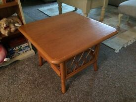 Square wooden coffee table