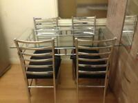 Dinning table set (4 chairs)