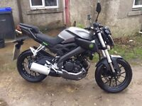 Yamaha MT125 abs Learner legal motorcycle