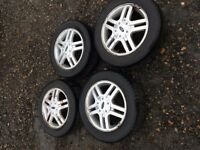 FORD FOCUS MK1 SET OF 4 X ALLOY WHEELS & TYRES 195/60/R15 4 STUD