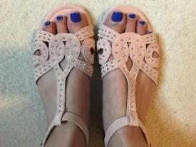 Pink Sandals. Office. Size 5.